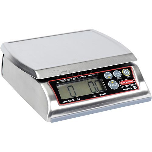 """Digital Washable Stainless Steel Portion Scale 12lb x 0.005lb 7-1/8"""" x 8-3/8"""" Platform by"""