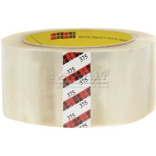 """3M 375 Carton Sealing Tape 2"""" x 55 Yds. 3.1 Mil Clear Package Count 36 by"""
