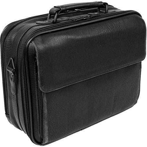 Bond Street 457010 Synthetic Leather Executive Briefcase, Computer Case, Black by