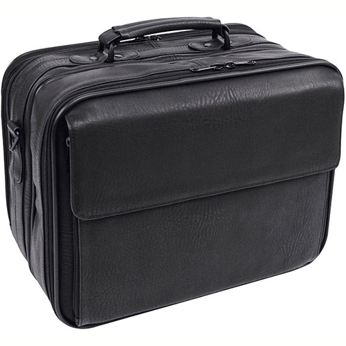 Bond Street 457880 Synthetic Leather Executive Briefcase, Computer Case, Black by