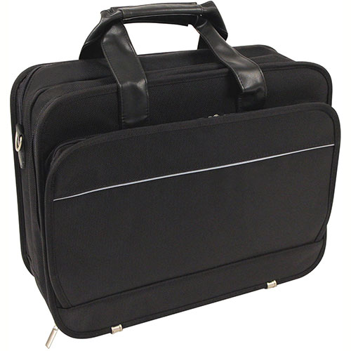 "Bond Street 466001 Ballistic Nylon Executive Briefcase, 15.6"" Computer Case, Black by"