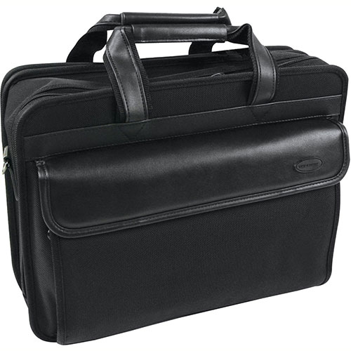 "Bond Street 467704 Nylon Executive Briefcase, 15.6"" Computer Case, Black by"