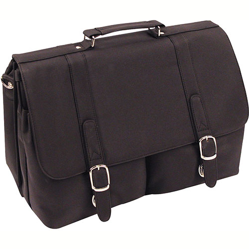 "Bond Street 468044 Nylon Executive Briefcase, 17"" Computer Case, Black by"