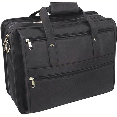 "Bond Street 468045 Lightweight Pongee Executive Briefcase, 17"" Computer Case, Black by"