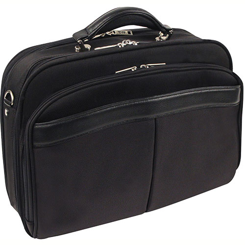 "Bond Street 468900 Nylon Executive Briefcase, 14"" Computer Case, Black by"