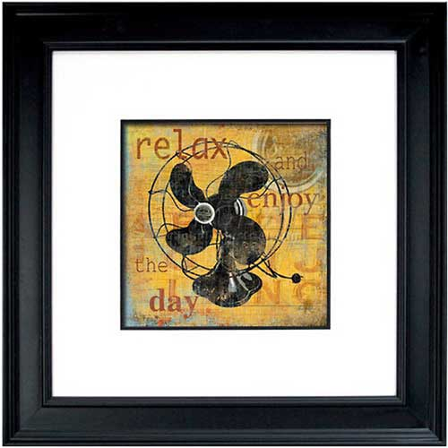 """Crystal Art Gallery Relax 26""""W x 26""""H, Double Mat Framed Art by"""