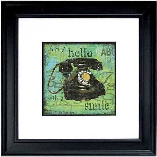 "Click here to buy Crystal Art Gallery Hello With A Smile 26""W x 26""H, Double Mat Framed Art."