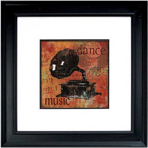 "Click here to buy Crystal Art Gallery Dance To The Music 26""W x 26""H, Double Mat Framed Art."