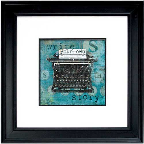 """Click here to buy Crystal Art Gallery Write Story 26""""W x 26""""H, Double Mat Framed Art."""