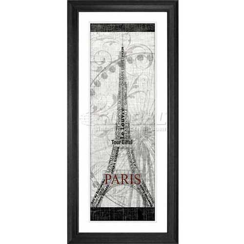 "Click here to buy Crystal Art Gallery Paris 20""W x 44""H, Double Mat Framed Art."