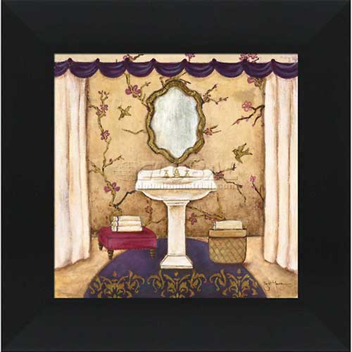 """Click here to buy Crystal Art Gallery Purple Passion Sink 2 16""""W x 16""""H, Straight Fit Framed."""