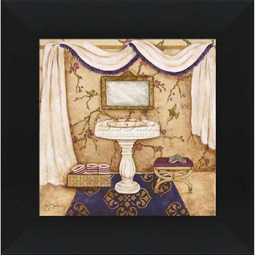 "Click here to buy Crystal Art Gallery Purple Passion Sink 1 16""W x 16""H, Straight Fit Framed."