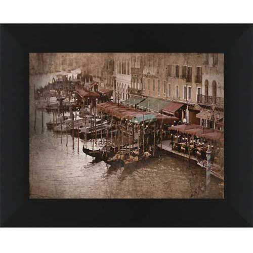 "Click here to buy Crystal Art Gallery Gondolas 1 20""W x 16""H, Straight Fit Framed."
