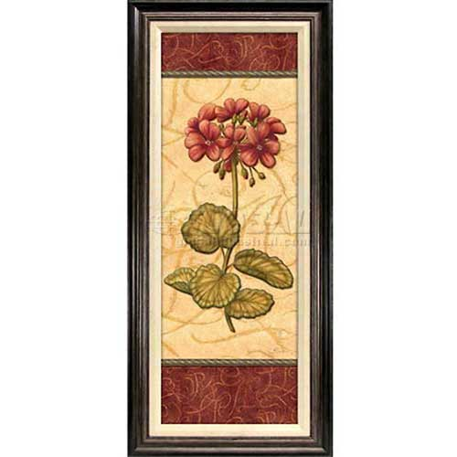 "Click here to buy Crystal Art Gallery Red Passion Geranium 18-1/2""W x 42-1/2""H, Linen Liner Framed."