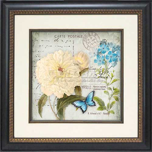 "Click here to buy Crystal Art Gallery Flower Postcard 1 19-3/4""W x 19-3/4""H, Single Mat Fillet."