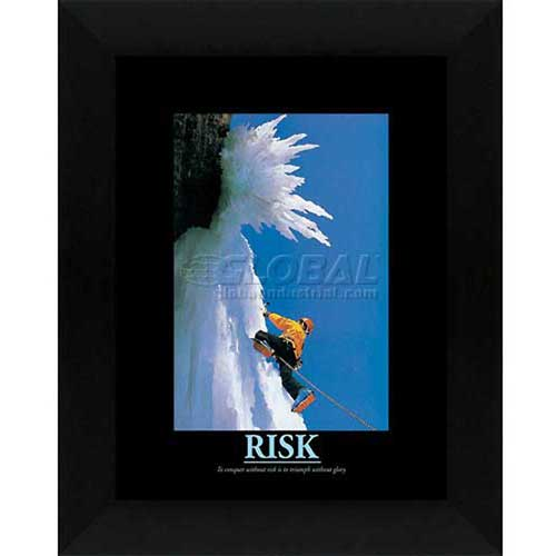 "Click here to buy Crystal Art Gallery Risk 20""W x 24""H, Straight Fit Framed."