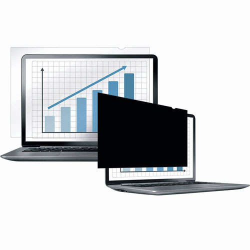 "Buy Fellowes 4800601 PrivaScreen Blackout Privacy Filter for 14.1"" Widescreen Laptops Package Count 4"