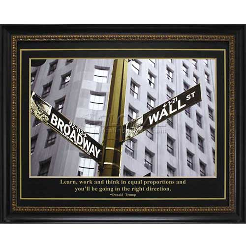 """Crystal Art Gallery Trump Direction 32-3/4""""W x 26-3/4""""H, Straight Fit Framed by"""