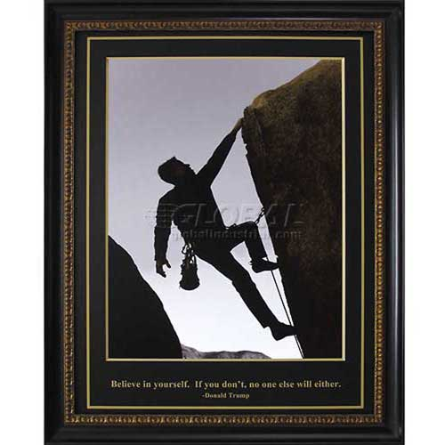 "Click here to buy Crystal Art Gallery Trump Rock Climber 26-3/4""W x 32-3/4""H, Straight Fit Framed."