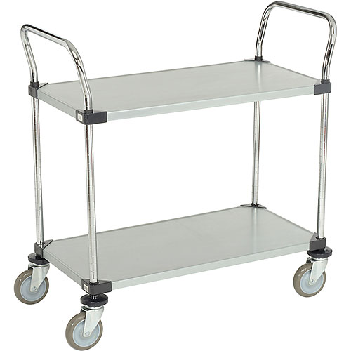 Nexel Galvanized Steel Utility Cart 2 Shelves 36x18 by