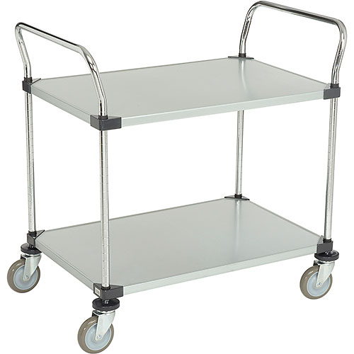 Nexel Galvanized Steel Utility Cart 2 Shelves 36x24 by