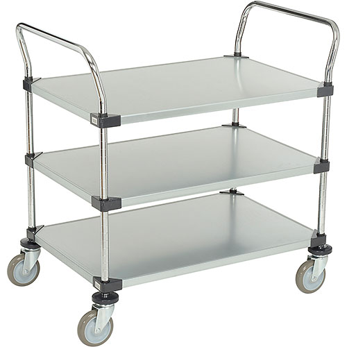 Nexel Galvanized Steel Utility Cart 3 Shelves 36x24 by