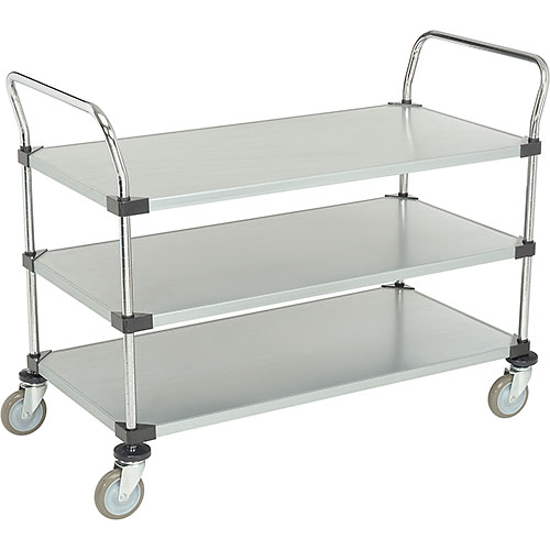 Nexel Galvanized Steel Utility Cart 3 Shelves 48x24 by