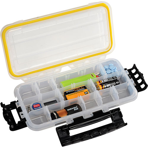 "Plano Guide Waterproof StowAway w/O-Ring Seal Box, 9-1/8""Lx 4-7/8""W x 1-1/2""H, Clear Package... by"