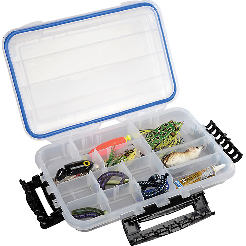 """Plano Guide Waterproof StowAway w/O-Ring Seal Box,10-3/4""""Lx7-1/4""""W x 1-3/4""""H, Clear Package... by"""