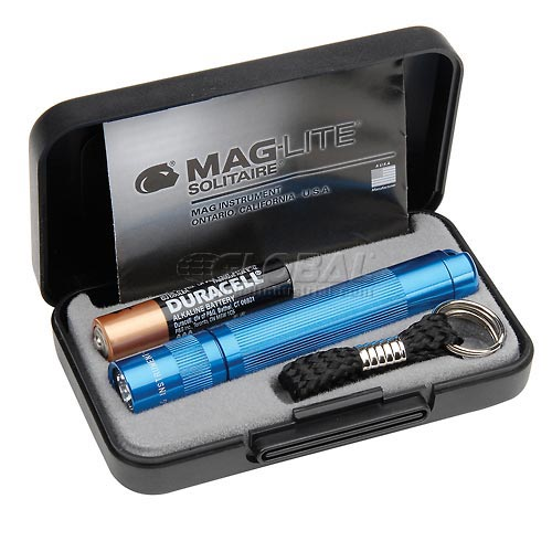 Maglite K3A112 1 Cell AAA Solitaire Flashlight Blue by