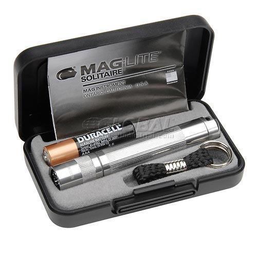 Maglite K3A102 1 Cell AAA Solitaire Flashlight Silver by