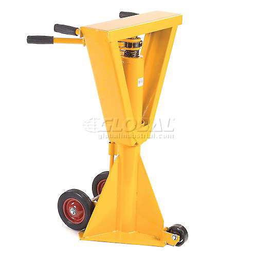 Heavy Duty Trailer Stabilizing Jack Stand 100,000 Lb. Static Capacity by