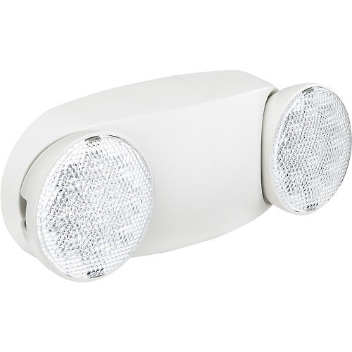 Buy Global 2 Head Round LED Emergency Light w/ Adjustable Optics and Ni-Cad Battery Backup