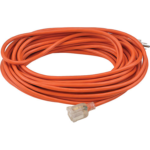 Global 50 Ft. Outdoor Extension Cord w/ Lighted Plug, 16/3 Ga, 13A, Orange by