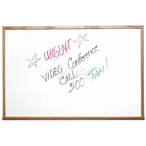 """Buy Ghent 72"""" x 48""""H Whiteboard with Wood Frame Non-Magnetic Includes Marker/Eraser USA Made"""