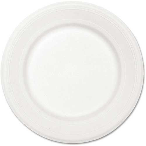 "Chinet Classic Paper Plate, 10-1/2"" Round, 500/Carton, White by"