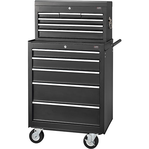 "Global 27"" 5-Drawer Roller Tool Cabinet W/ Ball Bearing Slides & 27"" Top Tool Chest Combo by"
