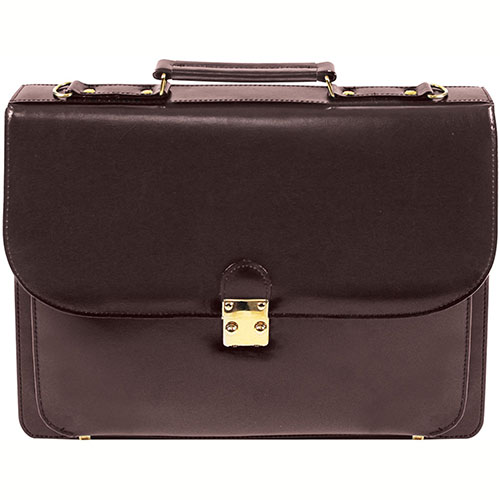 "Bond Street 541882 Leather Executive Briefcase, 4""W x 12""H x 16""L, Burgundy by"