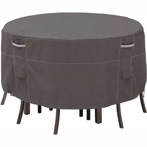 Classic Accessories Patio Table & Chair Set Cover Ravenna Series, Round, Tall... by