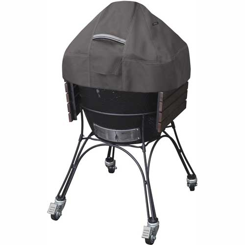 Classic Accessories Ravenna Ceramic BBQ Grill Dome Cover, Large, Taupe 55-418-045101-EC by