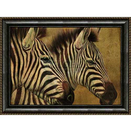 """Click here to buy Crystal Art Gallery Framed Canvas Zebra 1 40""""W x 30""""H, Straight Fit Framed."""