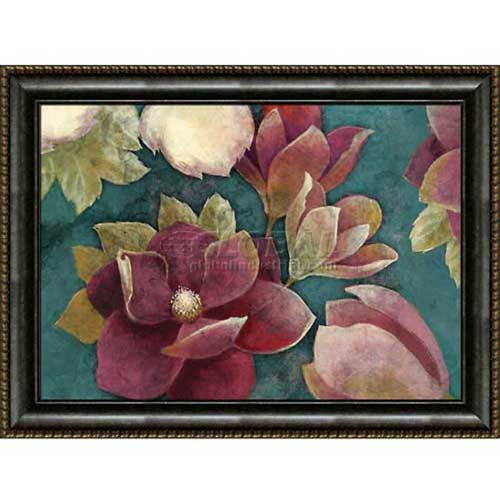 """Crystal Art Gallery Framed Canvas w/Foil Red Green 40""""W x 30""""H, Straight Fit Framed by"""
