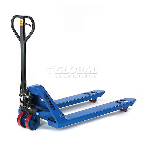 Click here to buy Premium Narrow Fork Pallet Jack Truck 6600 Lb. Capacity 21 x 48 .