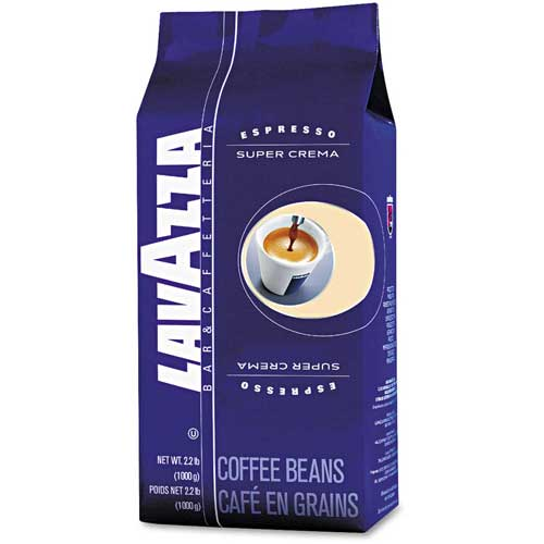 Lavazza Super Crema Espresso Coffee, Regular, 2.2 Lb. Bag, Vacuum Packed With One Way Valve by