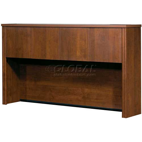 Bestar Hutch for Credenza in Tuscany Brown Embassy Series by