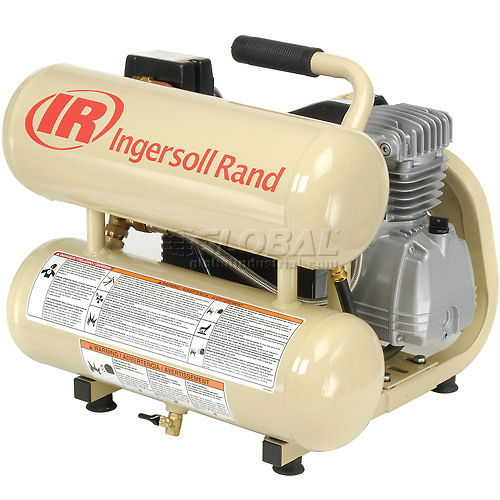 Ingersoll Rand Portable Air Compressor, 2 HP, 4.5 Gallon Twin Stack, 125 PSI, 1-Phase 115V by