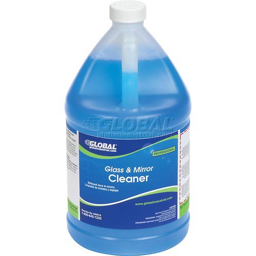 Global Industrial Glass & Mirror Cleaner Case Of Four 1 Gallon Bottles by