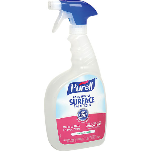 Purell Foodservice Surface Sanitizer, 32 oz. Spray Bottle 3 Bottles/Case 3341-03 by