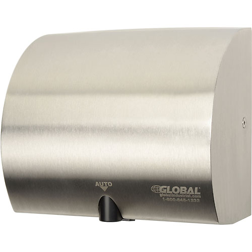 Global Industrial High Velocity Automatic Hand Dryer Stainless Steel by