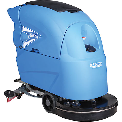 "Click here to buy Global Industrial Auto Floor Scrubber 20"" Cleaning Path, Two 115 Amp Batteries ."